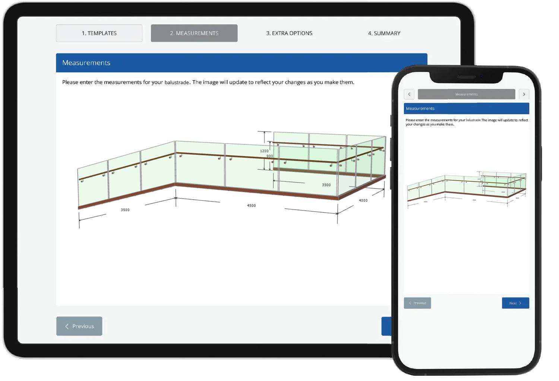 smart web - sell balustrades online 24/7