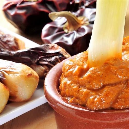 Romesco sauce the happy onions dip.