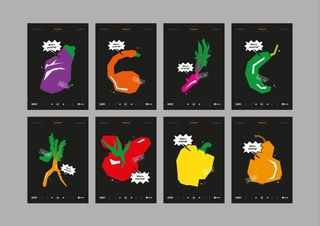 EXPERIMENTAL AD CAMPAIGN Fruits & Vegs Posters