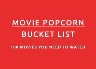 Movie Popcorn Bucket List Text