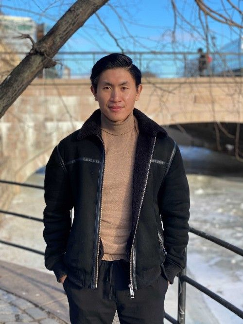 A picture of Joakim Nguyen, a new employee at ShiftX
