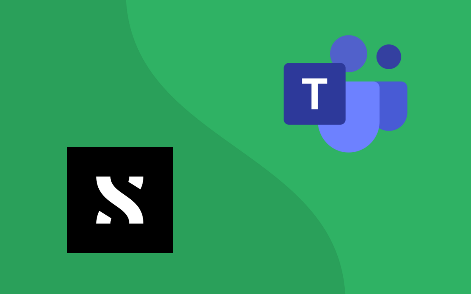Logos of ShiftX and Microsoft Teams on a green background