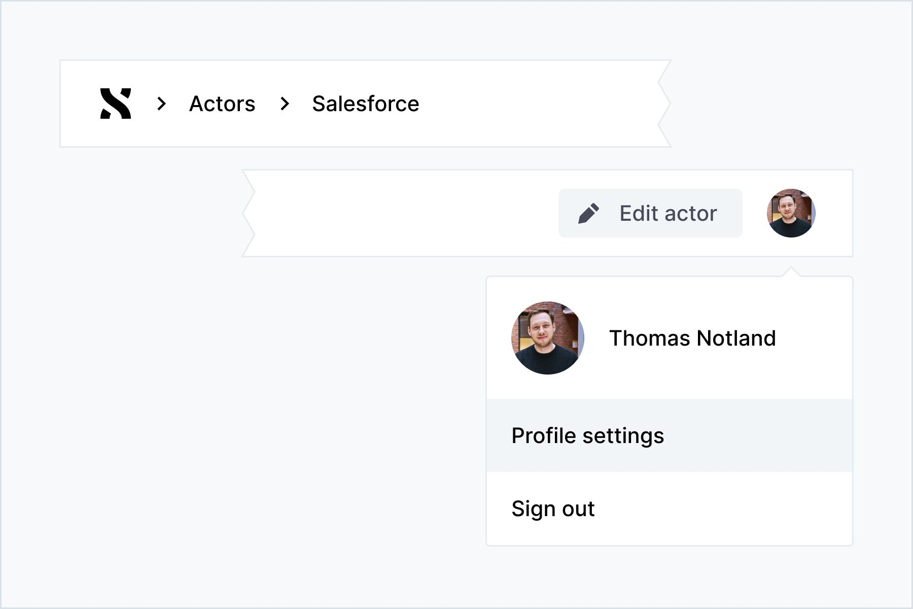 Screenshot of a toolbar in ShiftX