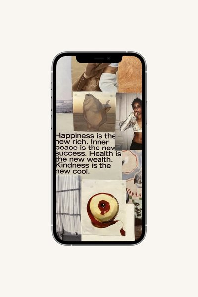 Image of a smartphone with Maggie Marilyn wallpaper.