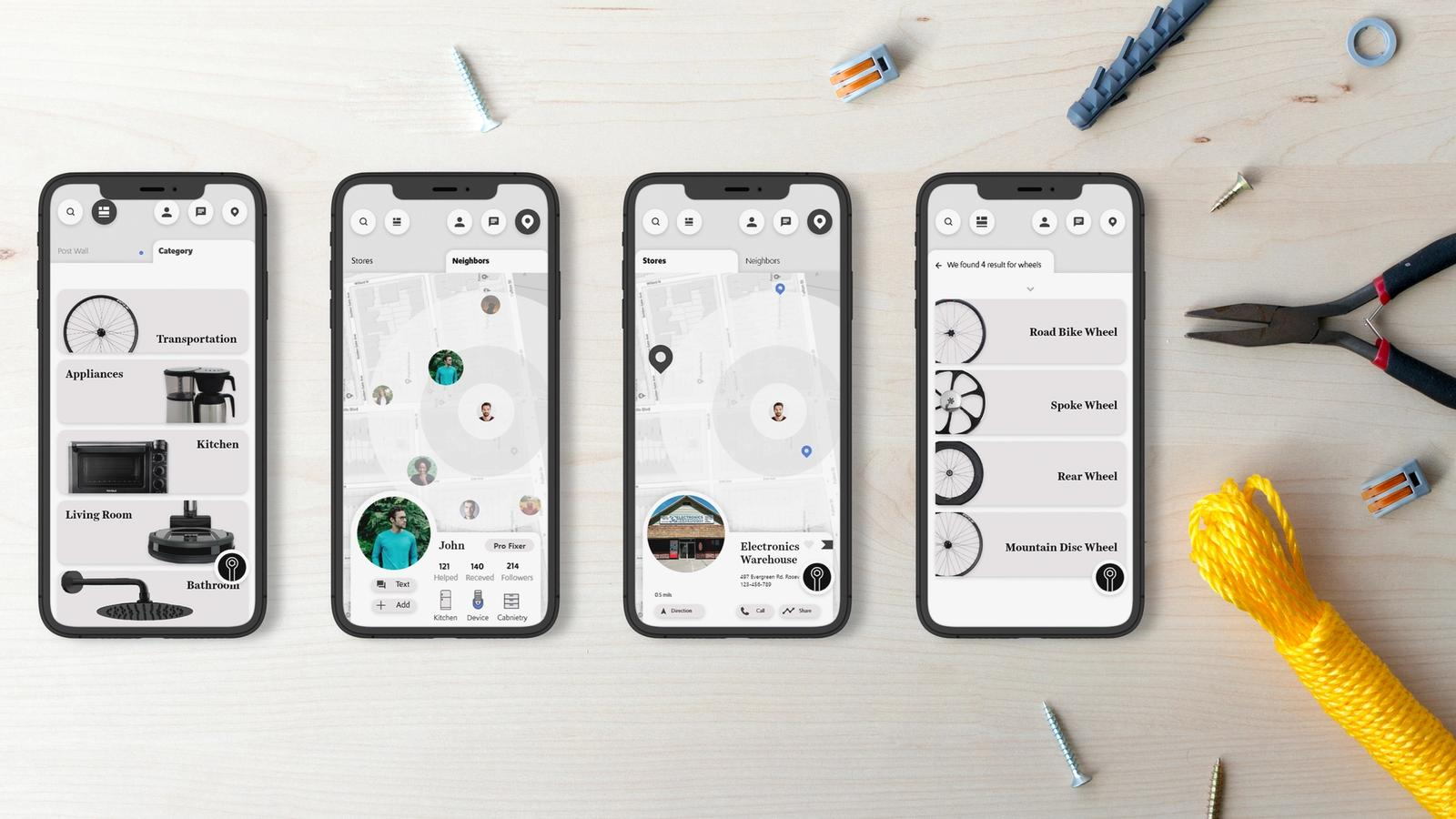 Fixi Repair // Mobile Application
