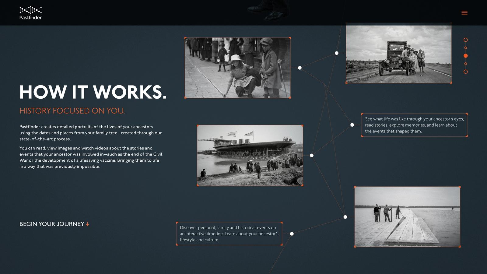 Pastfinder // Family History Website