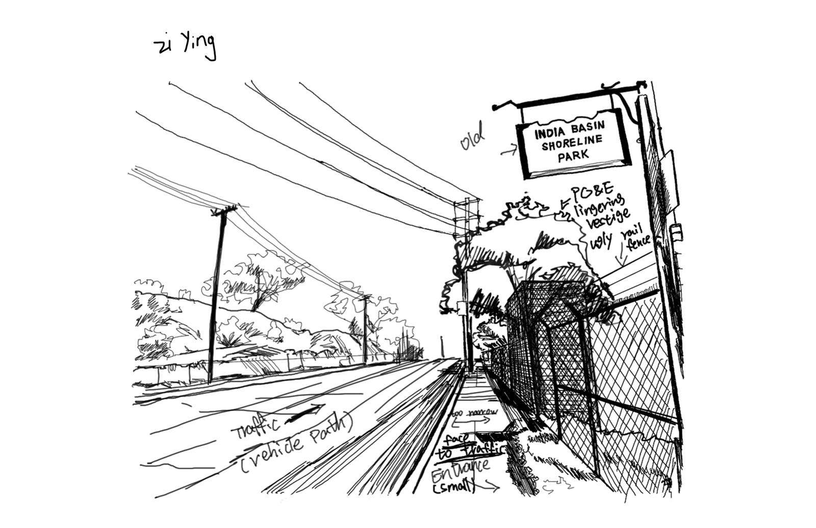 Site Analysis Sketch 5 – India Basin Park, San Francisco