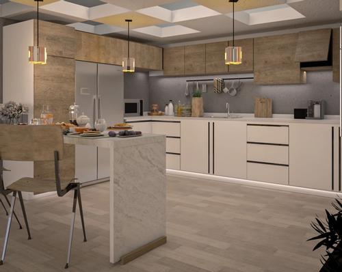 Modern Kitchen In Loft 2