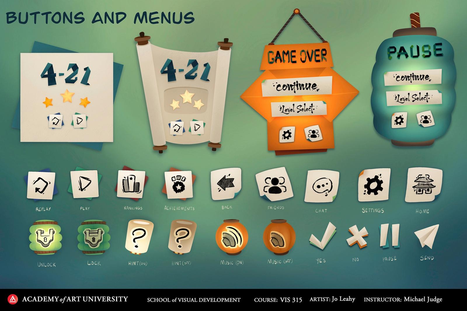 Buttons and Menus - Flow