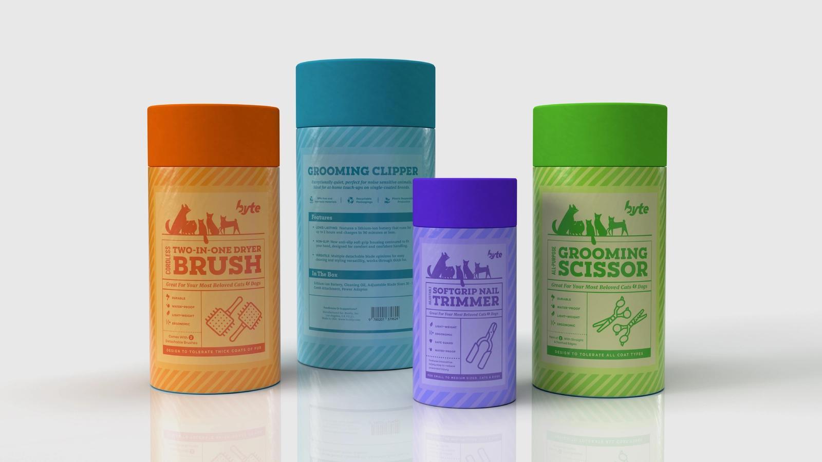 Byte Pet Grooming // Product Packaging