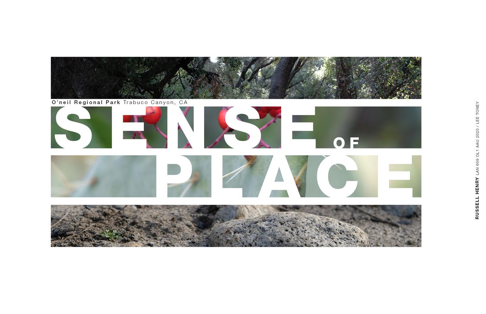 Sense of Place - Title Page