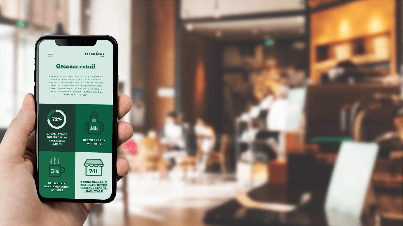 Starbucks CSR Report // Mobile App