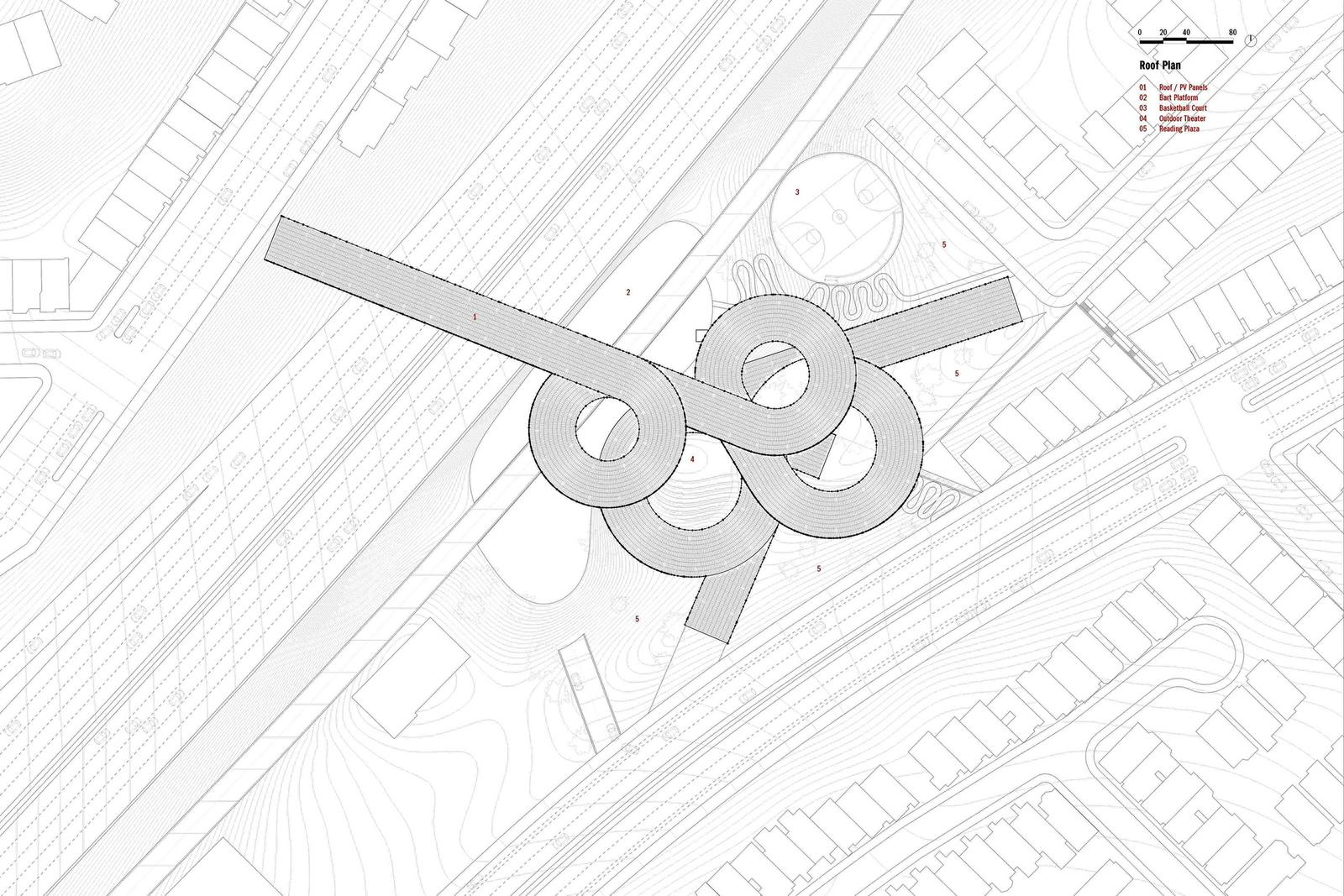Outer Mission Ramp Library - Roof Plan