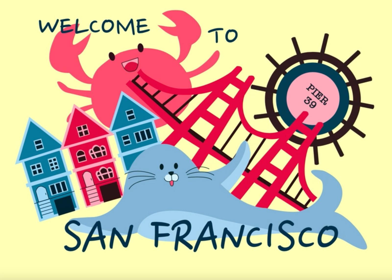 Animated Travel Postcard - San Francisco