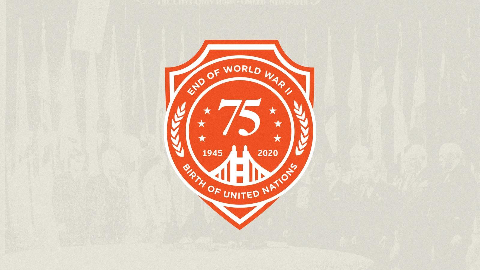 75th Anniversary: End of WWII & Birth of UN // Logo