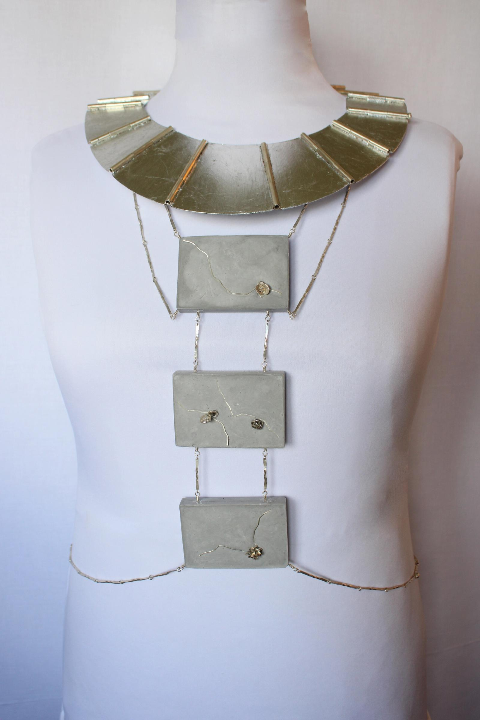 Front view; Body chain & necklace