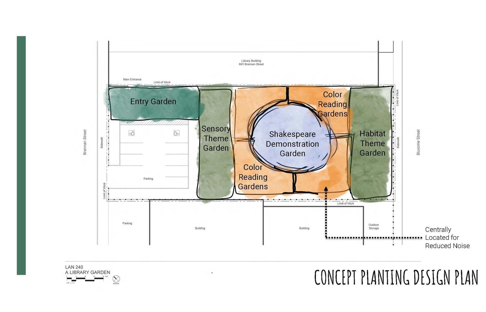 Library Garden for 601 Brannan Street Site 21