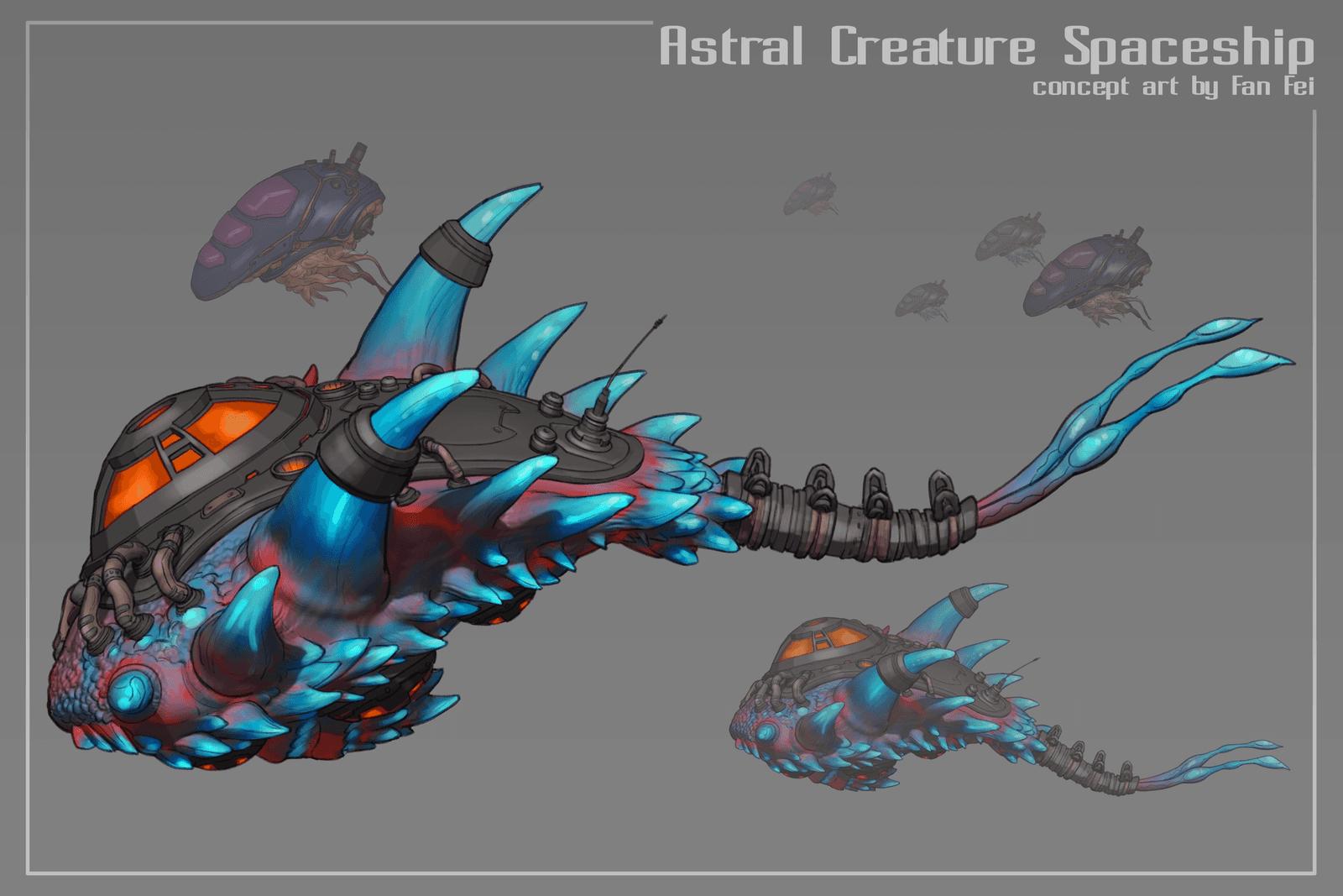 Astral Creature Spaceship