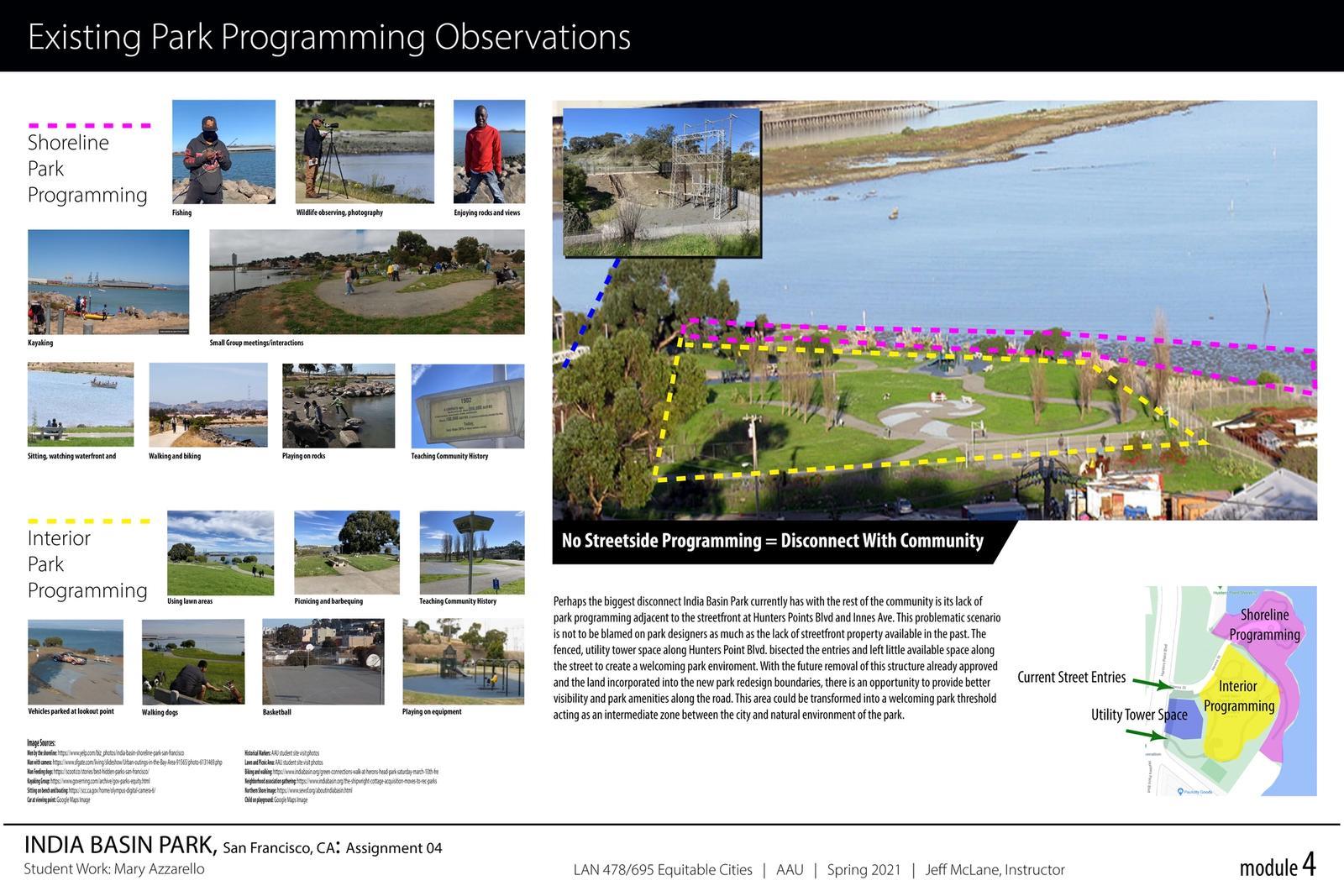 India Basin Park, San Francisco - Existing Park Programming Observations 1