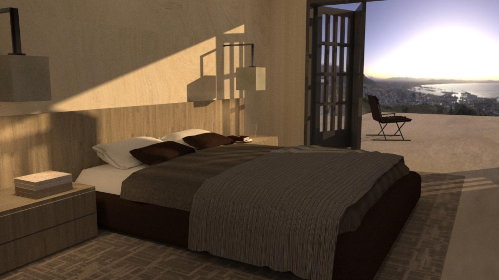 Artist Studio Loft - Bedroom Early Morning
