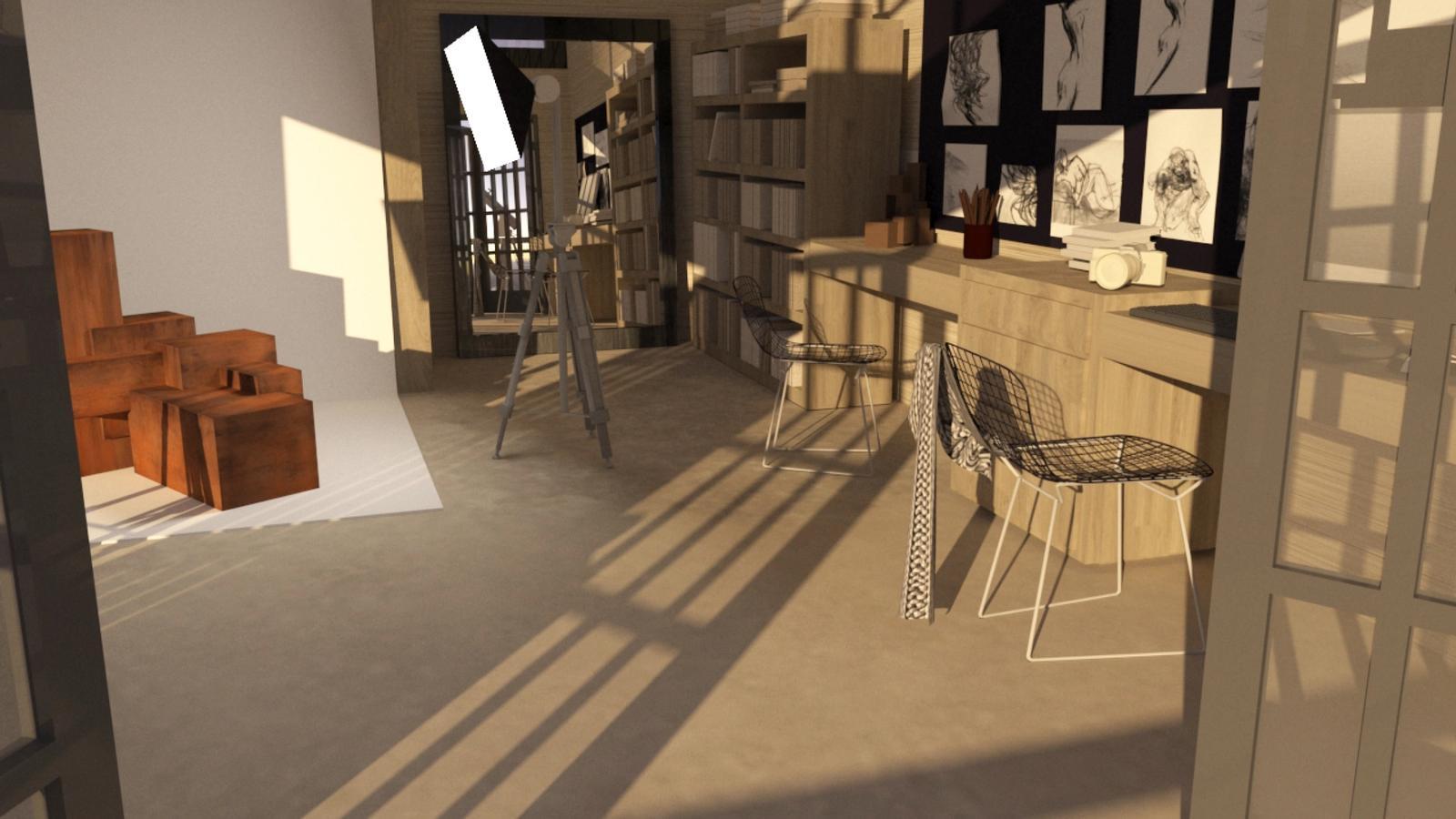 Artist Studio Loft - Studio in the Late Afternoon