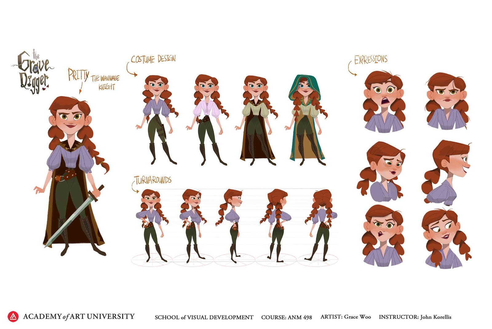 The Grave Digger Pritty Character Sheet - Grace Woo