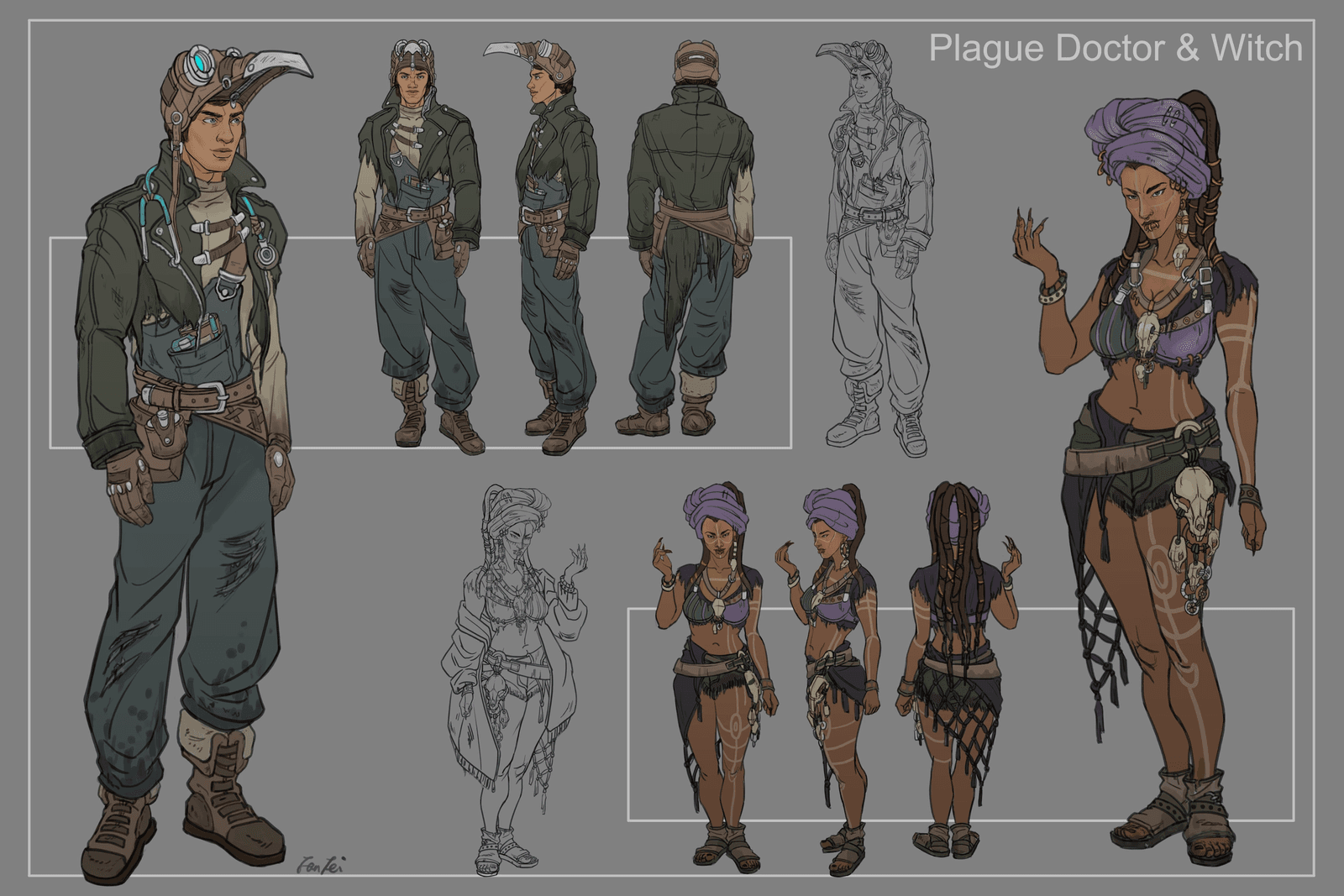 Cowboy Bebop - Plague Doctor & Witch
