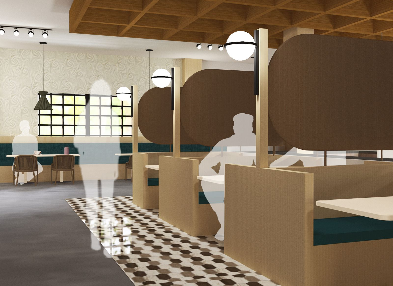 The Crossroads Residential Community - Seating Booths