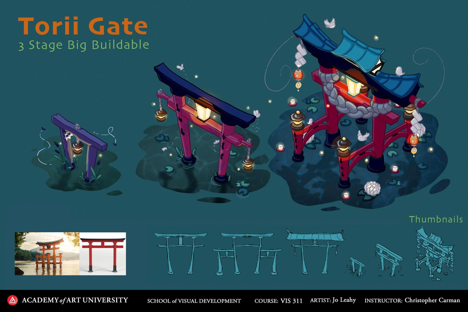 Torii Gate 3 Stage Big Buildable - Flow