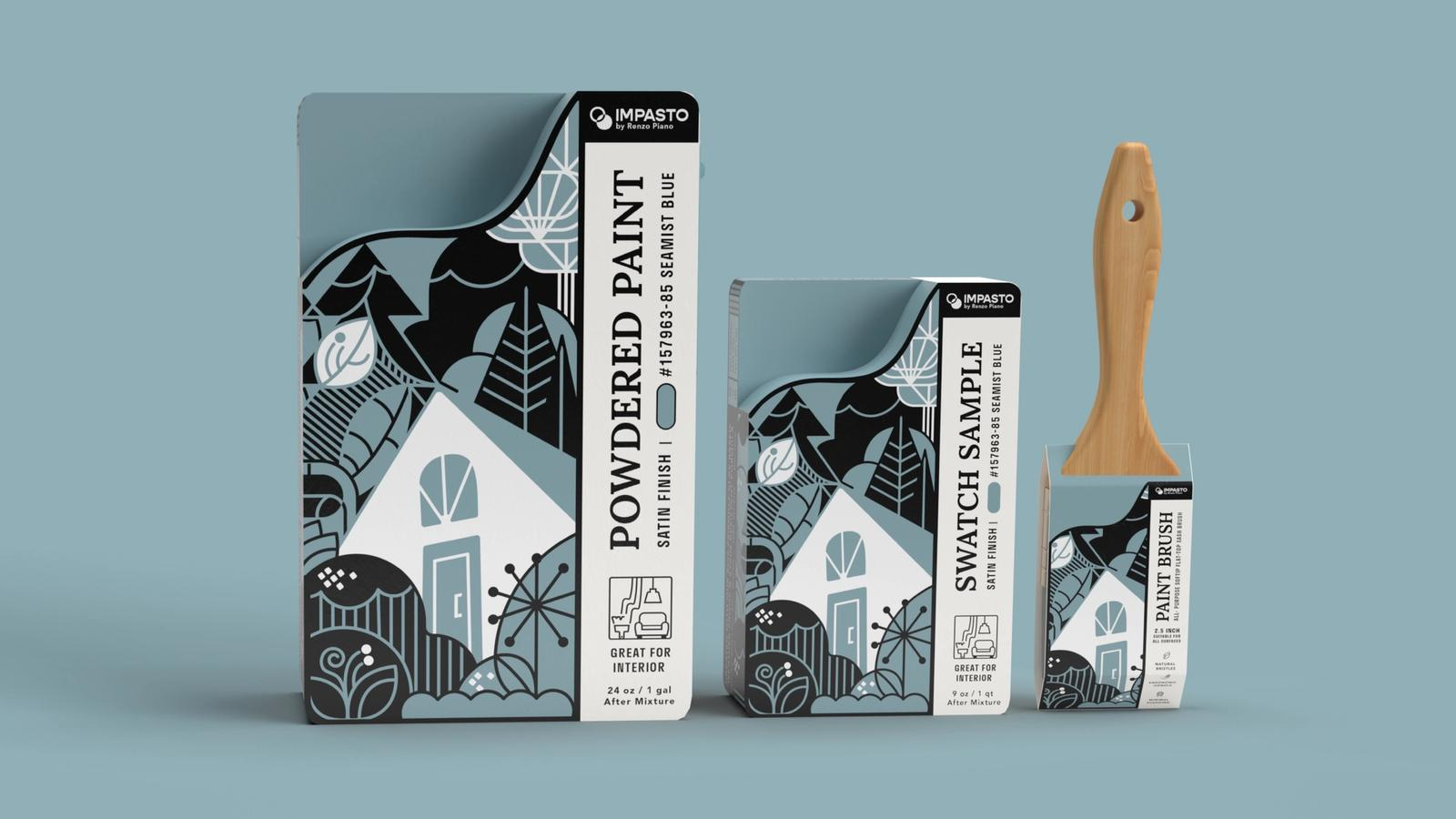 Impasto Powdered Paint Mix // Product Packaging