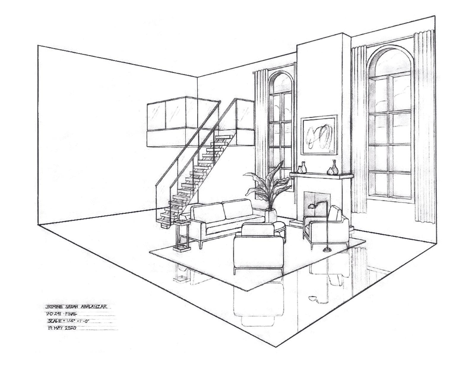 Loft Design - Perspective View