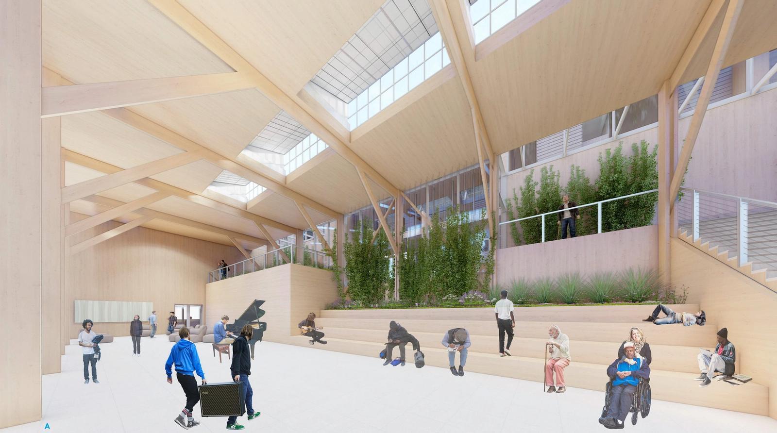 Interior View of Multi-Purpose Day Center