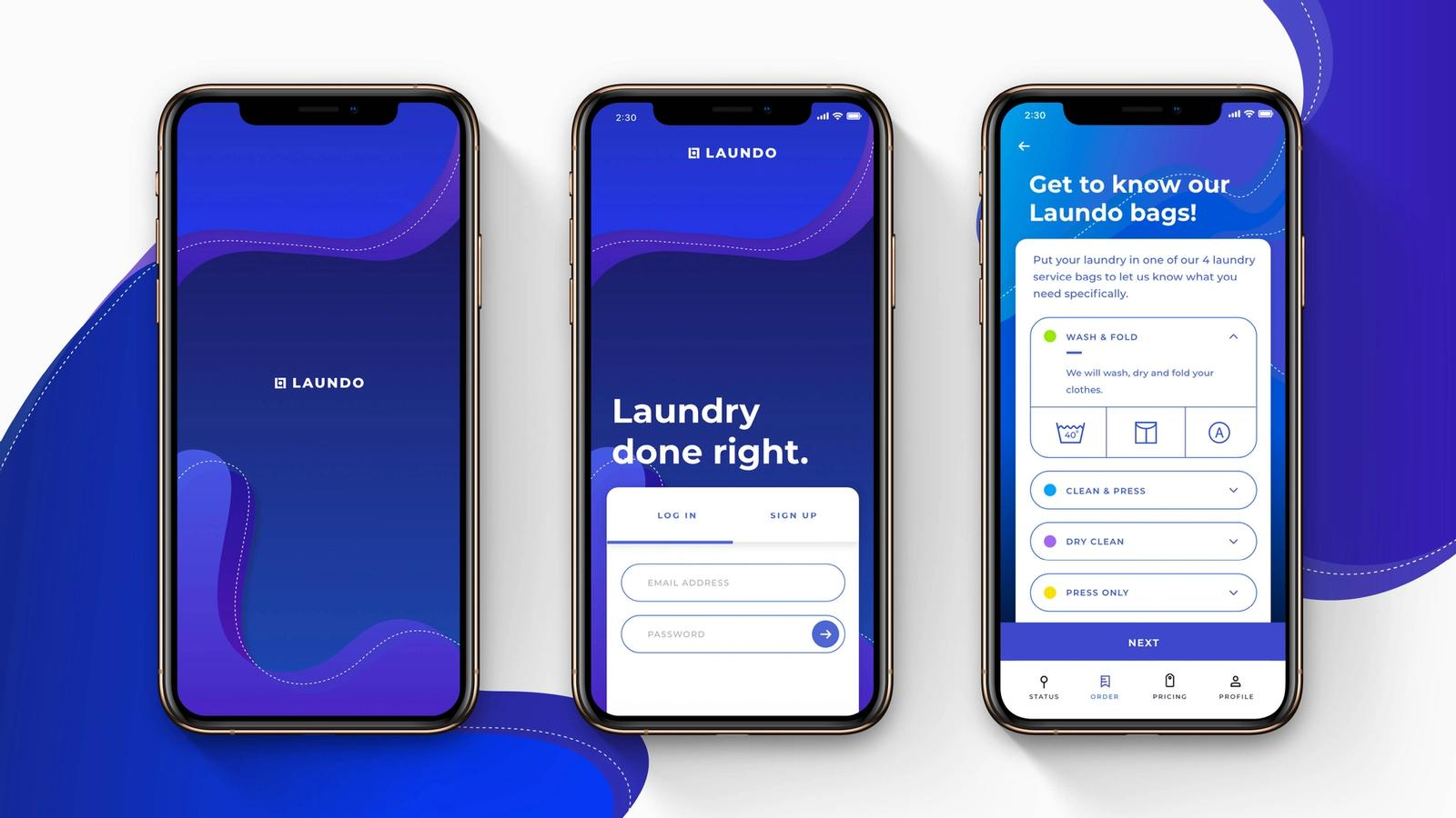 Laundo // Mobile App for Laundry