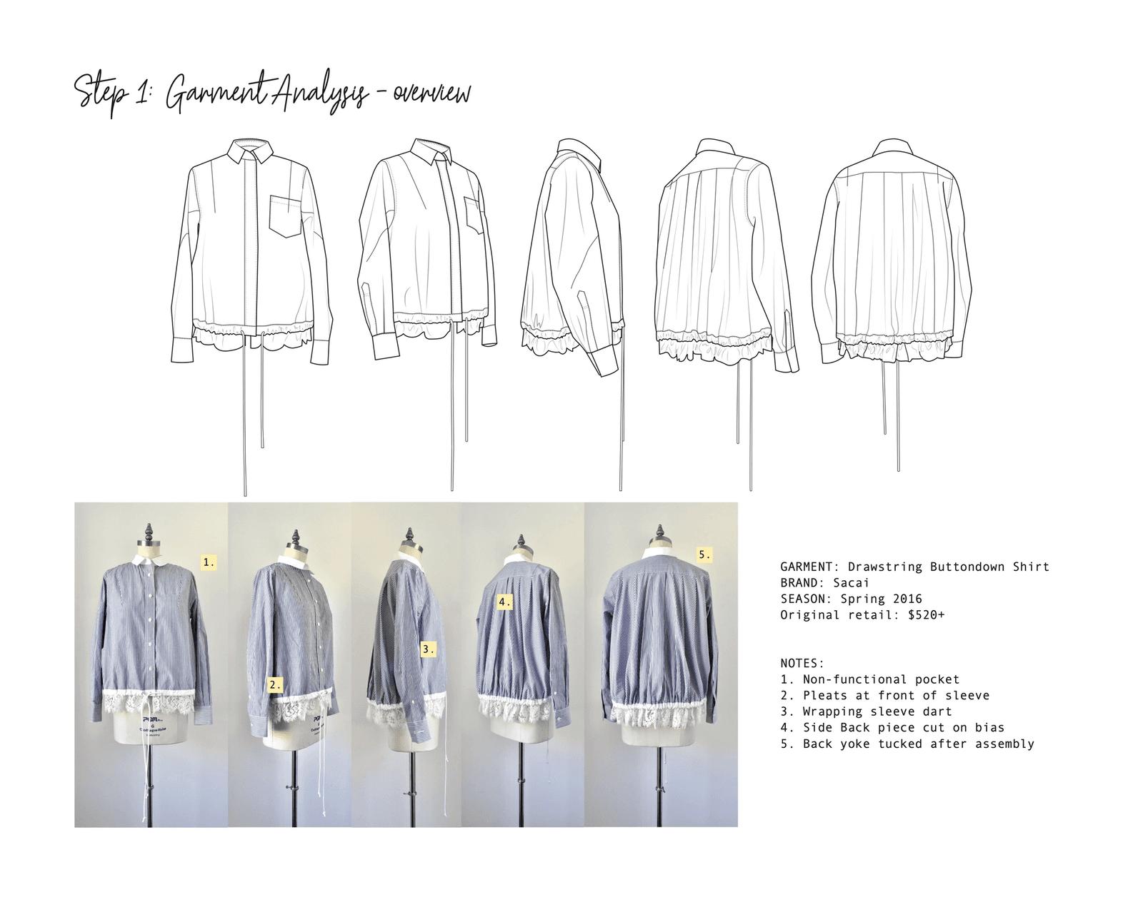 Replication & Pattern Analysis of Sacai Shirt