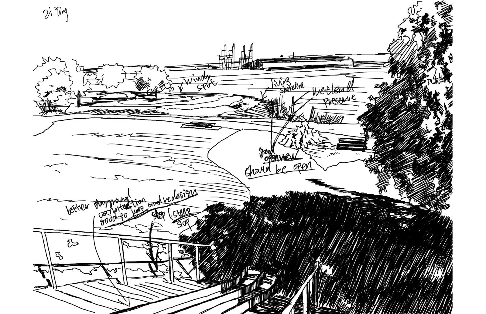 Site Analysis Sketch 4 – India Basin Park, San Francisco
