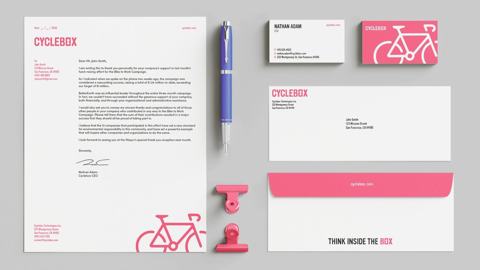 Cyclebox // Stationery System