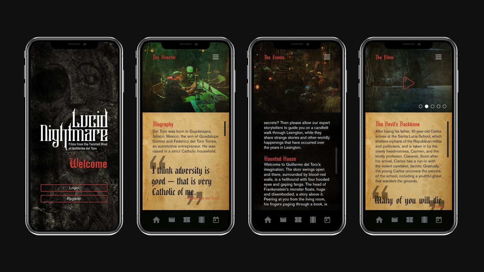 Lucid Nightmare // Guillermo del Toro Film Festival Mobile App