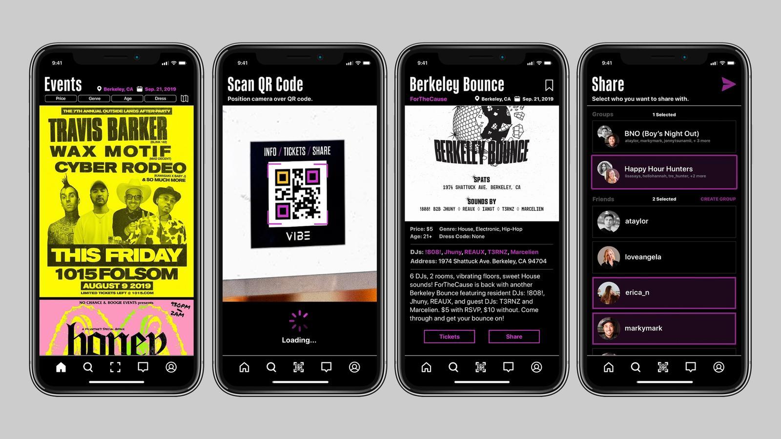Vibe Music Event Finder // Mobile App