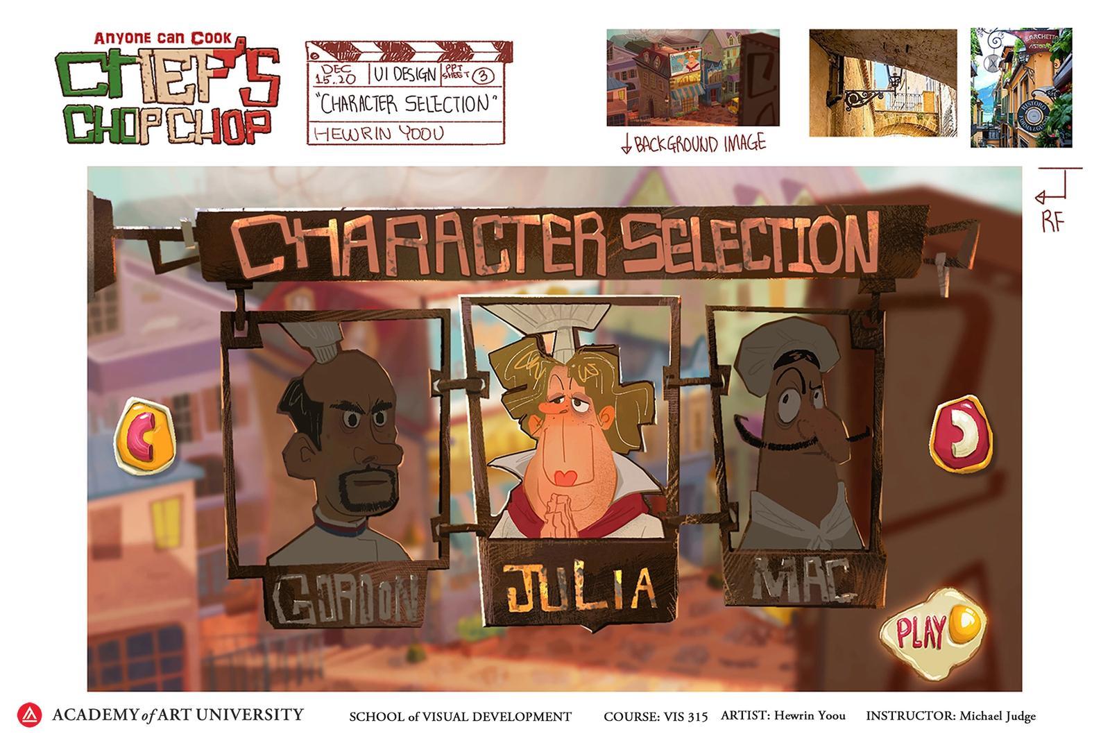 Character Selection - Hewrin Yoou