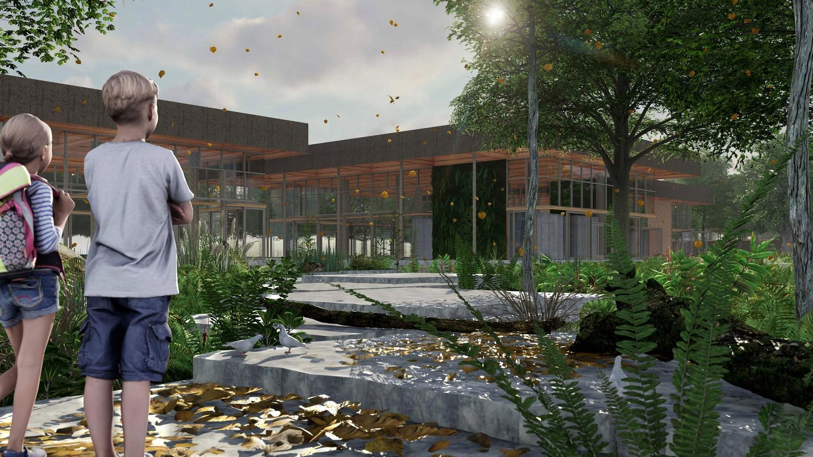 Eco-Tecture - Unifying Ecology with Architecture - Stone Path Towards Building
