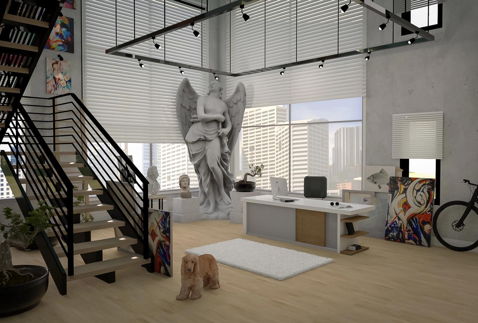 Modern Studio and Office In loft 2
