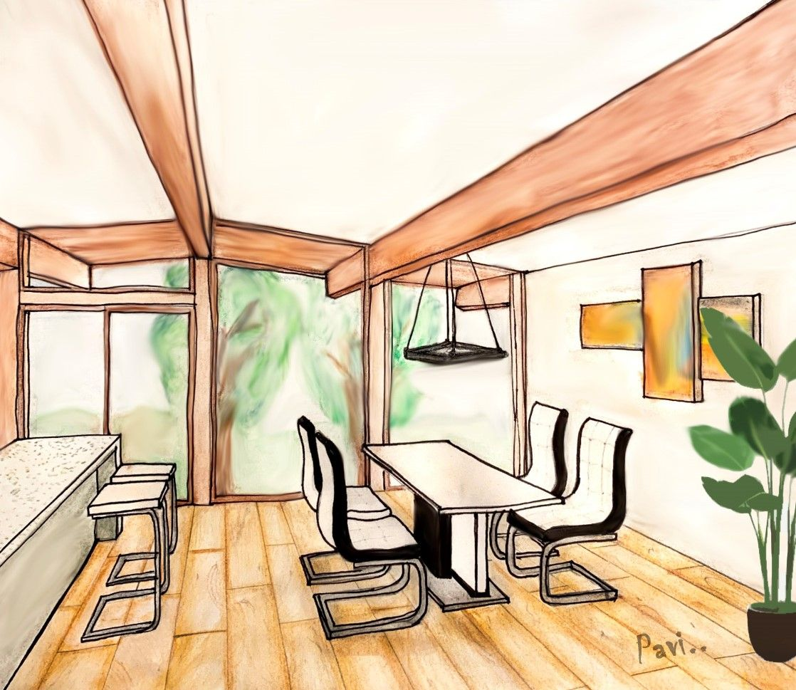 Dining Area - Perspective Drawing