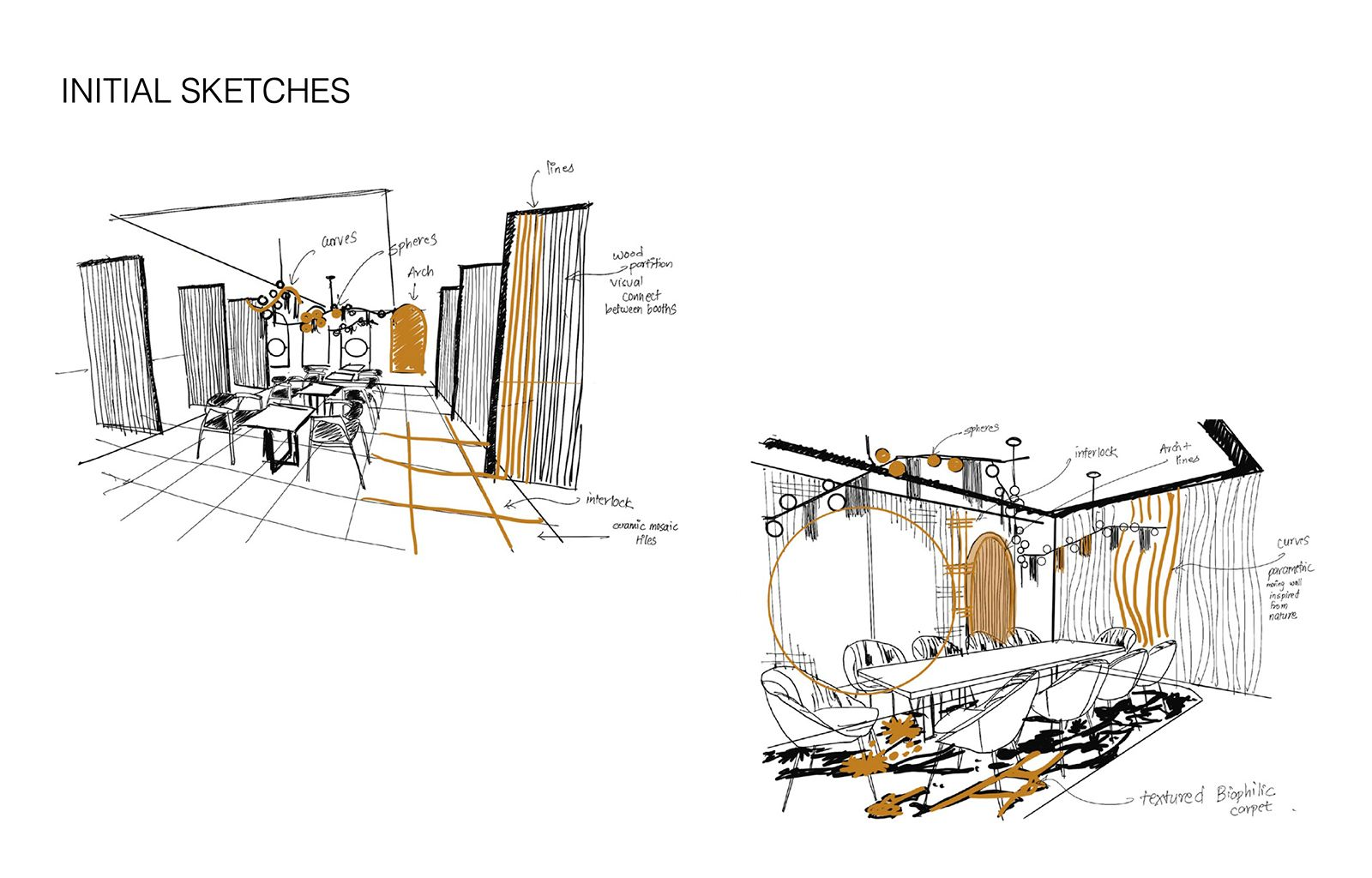 Raw Luminaire - Initial Sketches