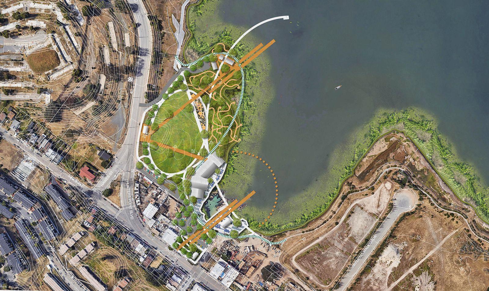India Basin Park, San Francisco - Illustrative Site Plan