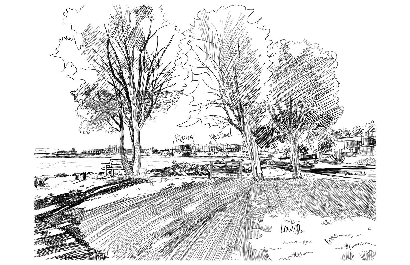 Site Analysis Sketch 1 – India Basin Park, San Francisco