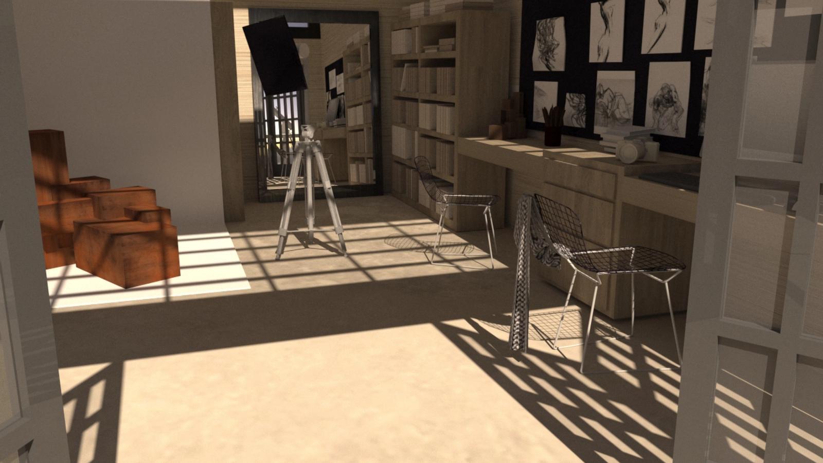 Artist Studio Loft - Studio at Noon