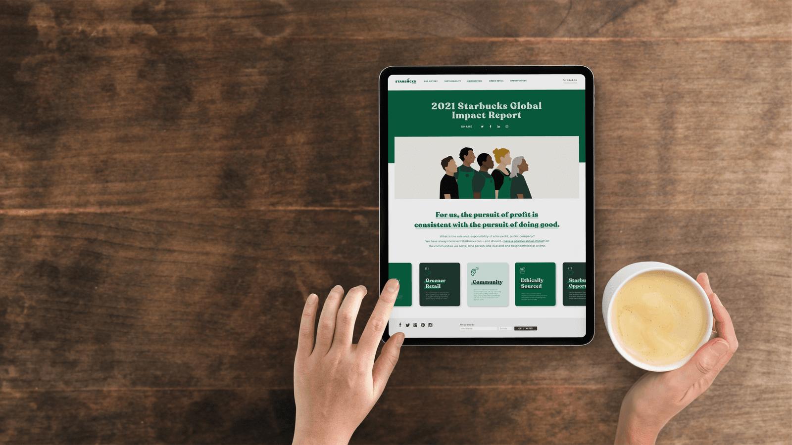 Starbucks CSR Report // Website