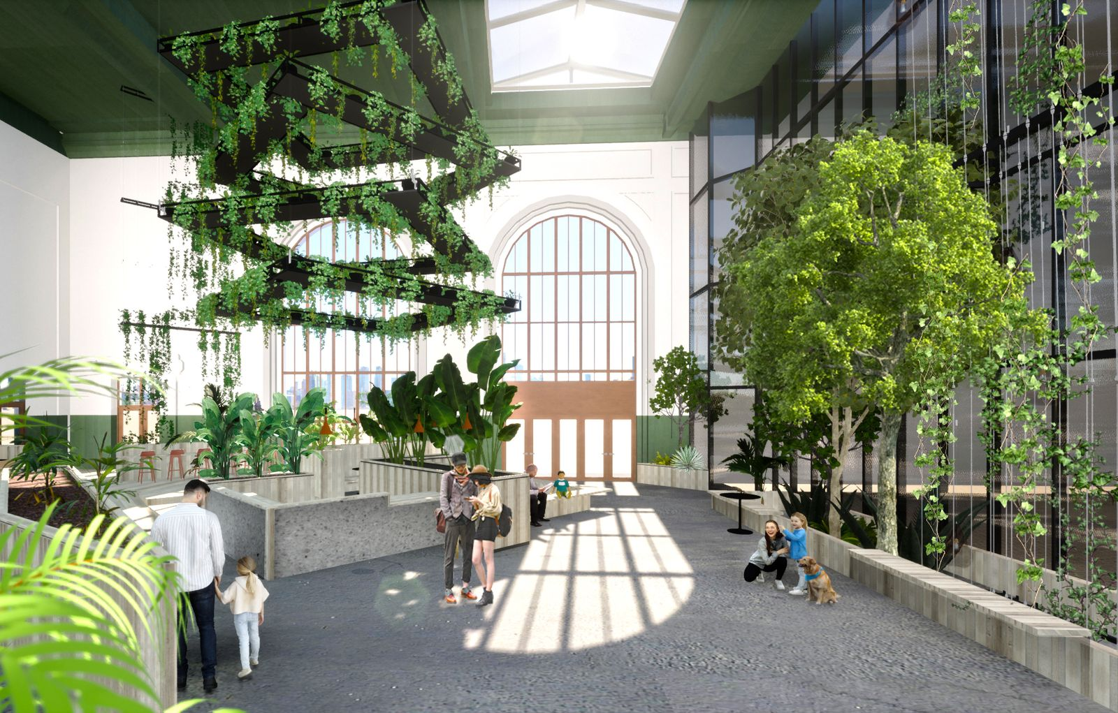 Sustainable learning and living center - Lobby