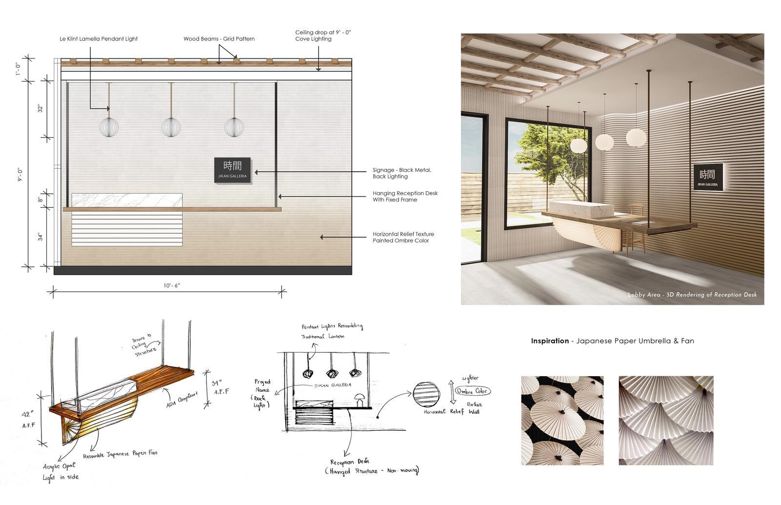 Jikan Galleria - Reception Desk Design