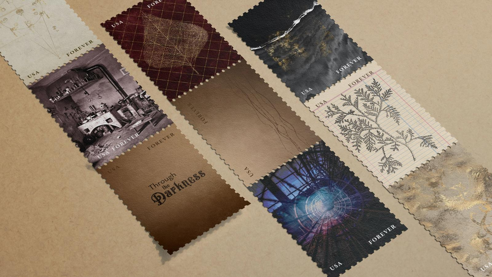 Through the Darkness // Guillermo del Toro Film Festival Stamps